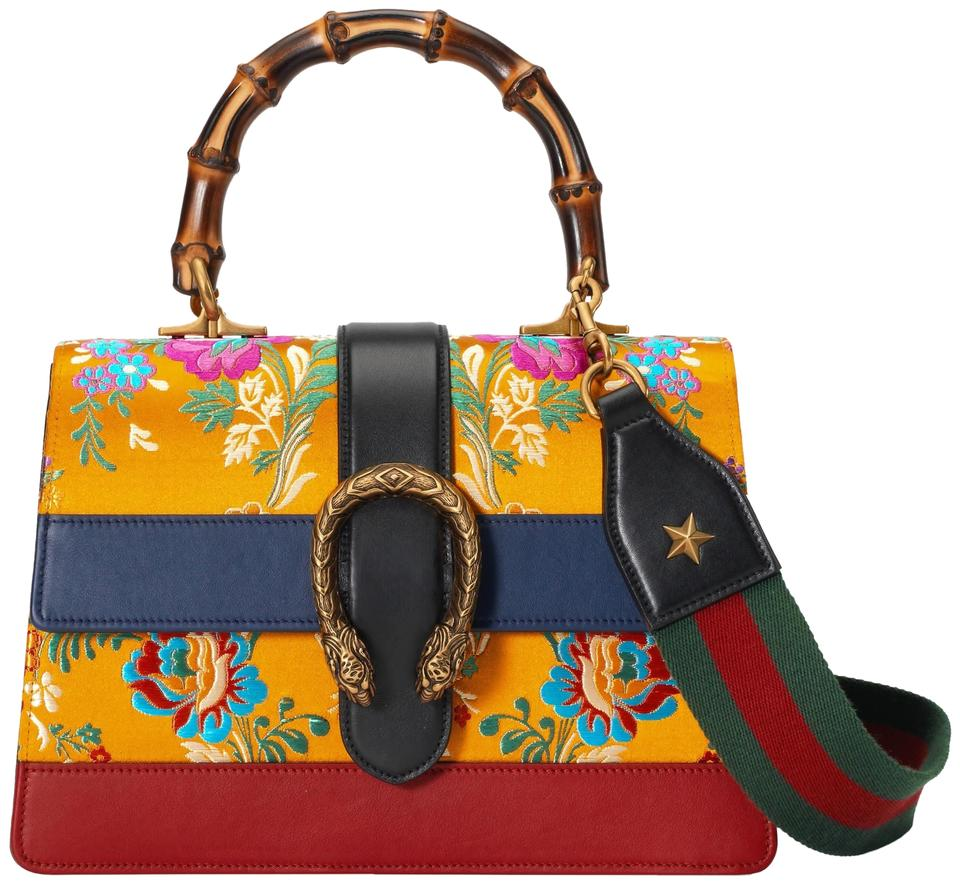 fae38947ae1 Gucci Dionysus Small Multicolor Floral Brocade Silk Cross Body Bag ...
