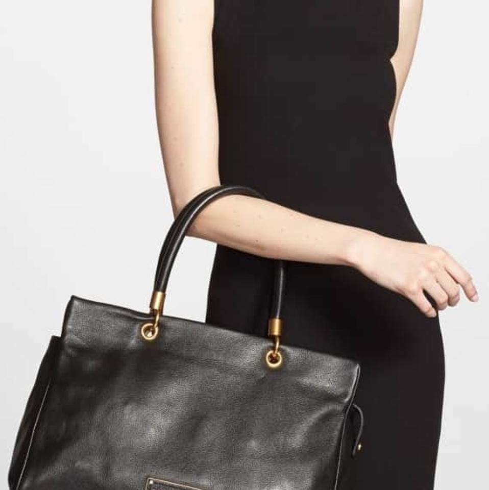 Too Marc Handle Leather To Hot by Jacobs Tote Black Marc Cowhide pntqw4trF