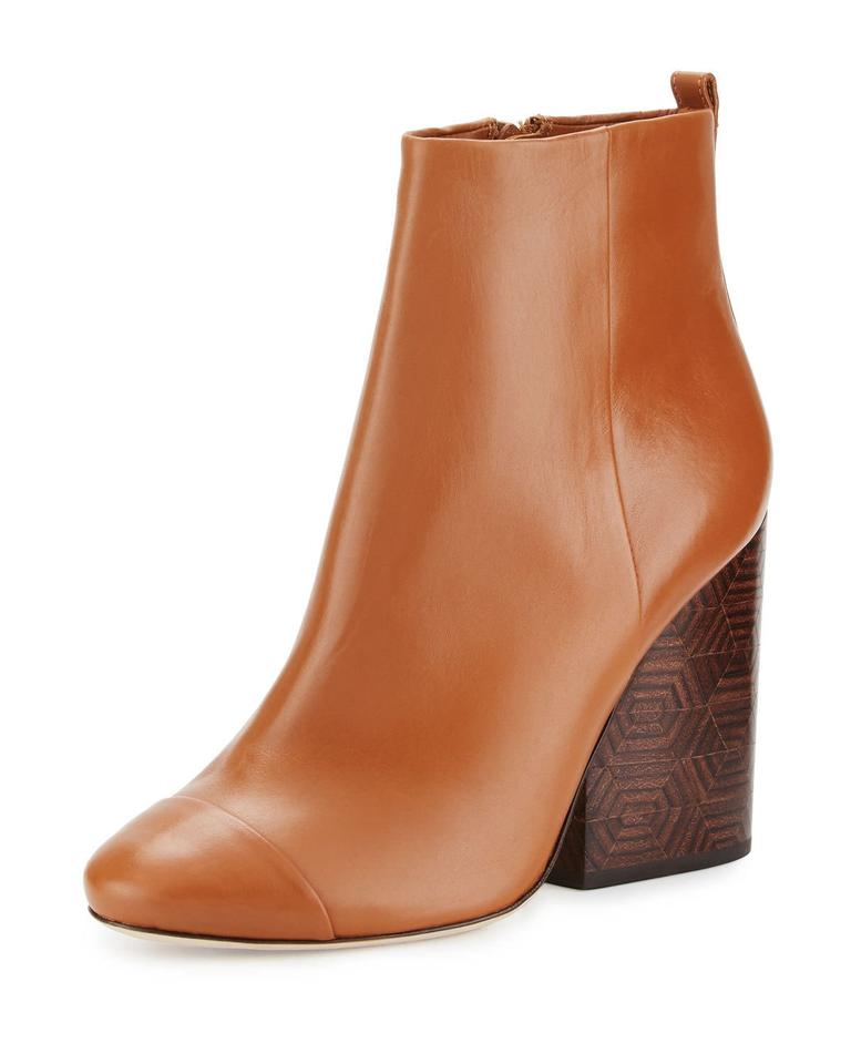 126b515e241 Tory Burch Brown Grove 100mm Royal Tan Calf Leather Ankle Boots/Booties