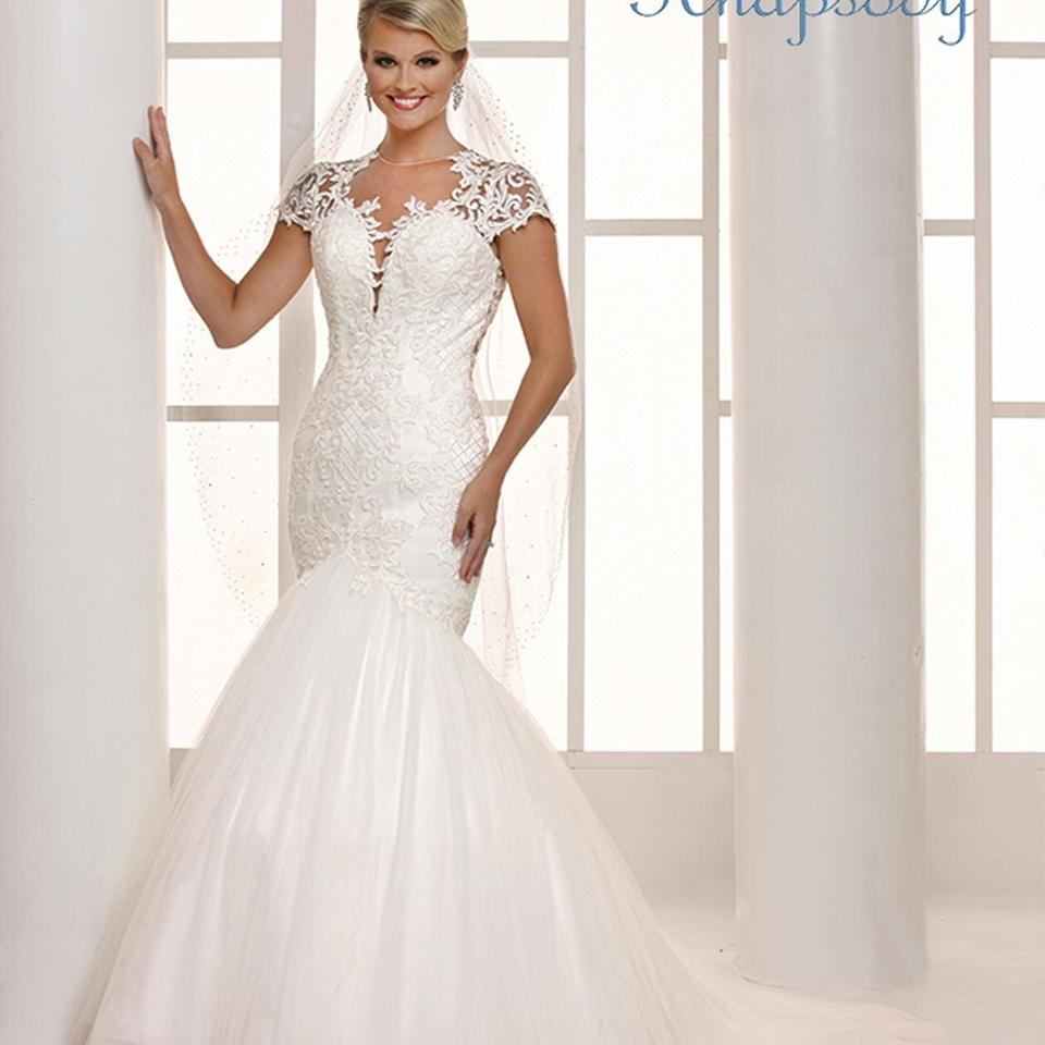 Rhapsody Ivory Beaded Lace Tulle Symphony Bridal R7710 Collection Formal Wedding Dress Size 6