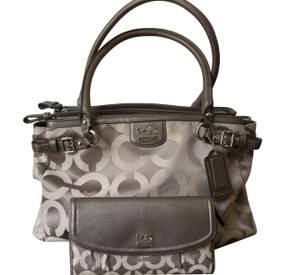Coach Madison Op Art Tote with matching wallet.