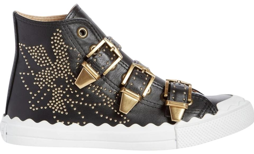 Black Sneakers Kyle Stud Sneaker Top Buckle Chloé High d7pwqd
