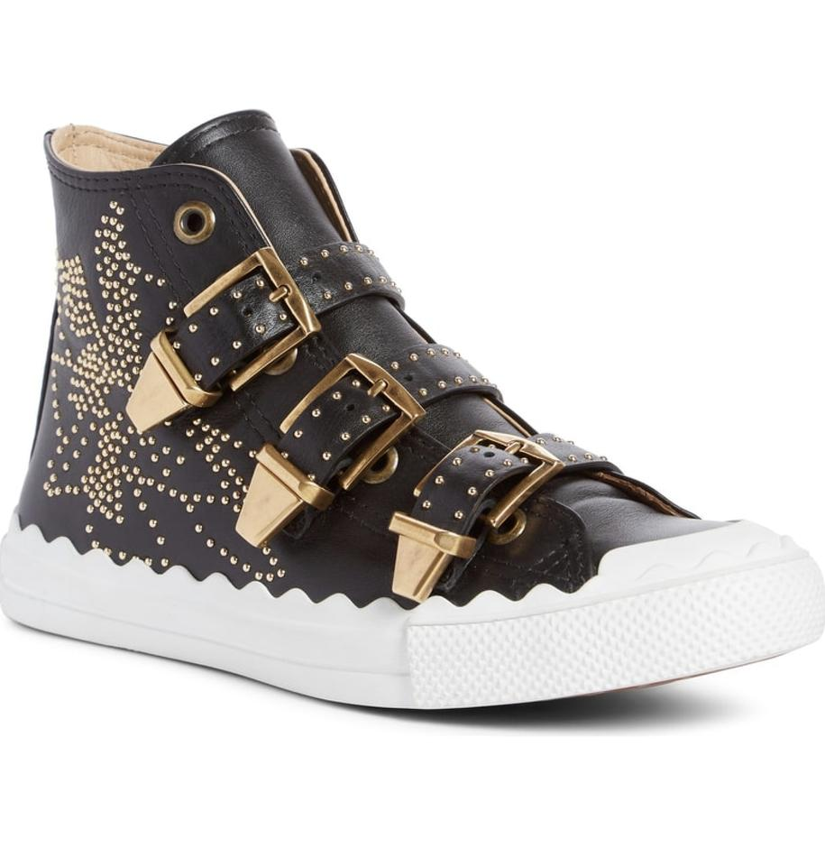 Buckle Black Chloé High Kyle Sneakers Top Stud Sneaker v6vq1WwPg