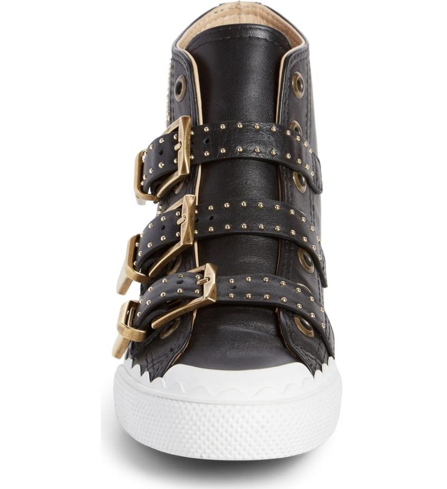 Buckle Top Chloé Sneaker Black Kyle Stud Sneakers High qwxnHftOg