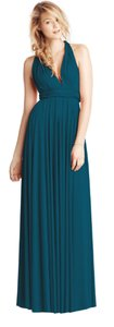 Sea Blue Jersey Classic Ballgown Modern Bridesmaid/Mob Dress Size OS (one size)