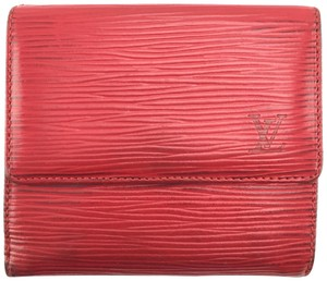 Louis Vuitton Epi Leather Double Sided Wallet monogram LV logo coin bill