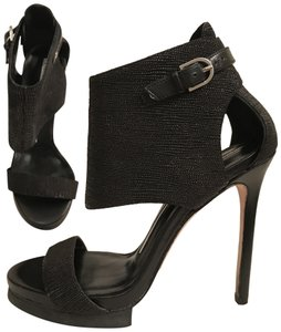 Camilla Skovgaard London Leather Sandal Formal Bootie Stiletto Black Platforms