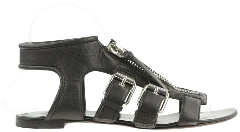 5db003fae877 Giuseppe Zanotti Black Zip Gladiator Sandals Size EU 37 (Approx. US ...