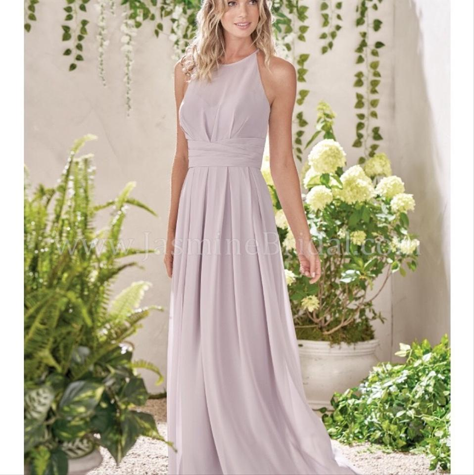 Jasmine Bridal Misty Pink Poly Chiffon Belsoi Gown B193009 Formal Bridesmaid Mob Dress Size