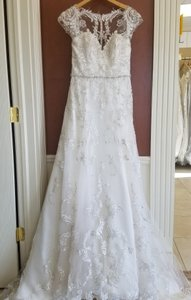Sottero and Midgley Ivory Lace Nicolette Feminine Wedding Dress Size 10 (M)
