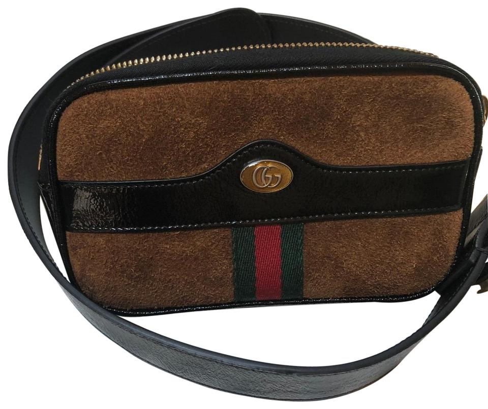 10fe2ea52cf628 Gucci Ophidia Small Beltbag Chestnut Suede Leather Messenger Bag ...