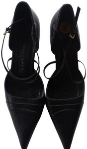 Pura Lopez Leather Leather Made In Spain black Pumps
