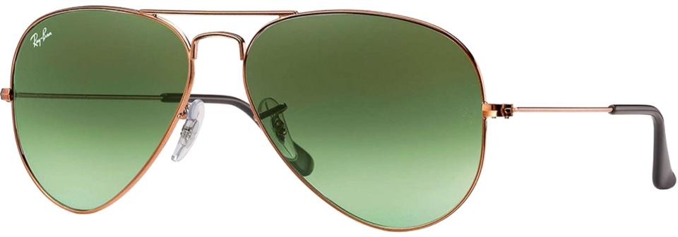 876a606730 Ray-Ban Rose Gold   Gradient Lens Rb 3026 Classic Large Aviator Sunglasses