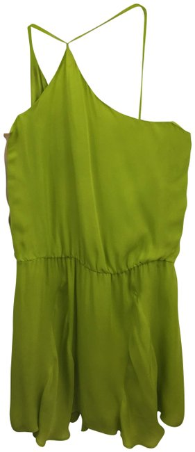 Item - Chartreuse/Tan Silk #147-10 Short Night Out Dress Size 0 (XS)