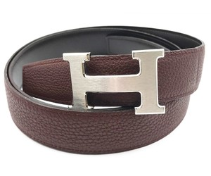 Hermès Hermes 100cm Silver Buckle Espresso Brown Constance Belt 32mm