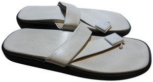 Louis Vuitton WHITE STRAP, INSOLE & BLACK SOLE Mules