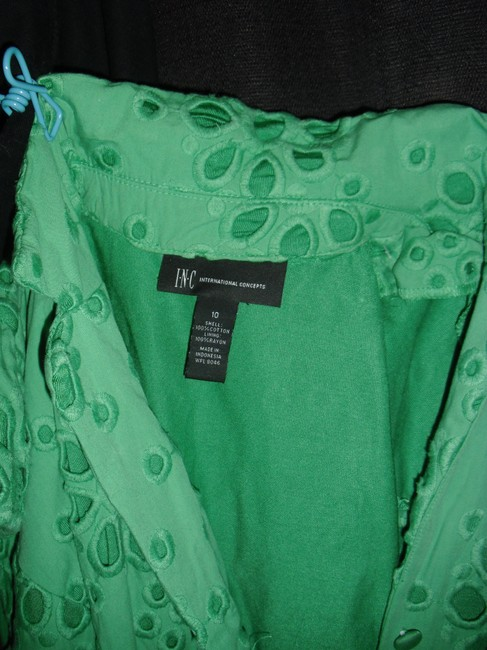 INC International Concepts short dress emerald green embroidered on Tradesy