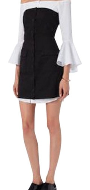 Preload https://img-static.tradesy.com/item/23746273/intermix-black-and-white-in-1-sinclair-poplin-short-night-out-dress-size-2-xs-0-2-650-650.jpg