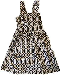 Mudpie short dress black and white Pique Cut Out Cotton on Tradesy