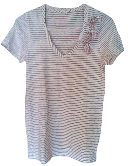 J.Crew T Shirt white with red stripes