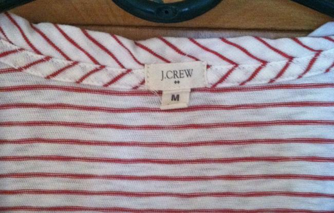 J.Crew T Shirt white with red stripes Image 1