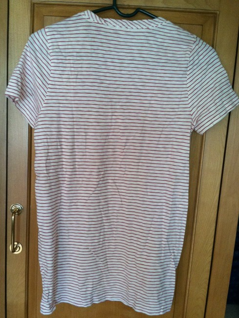 J.Crew T Shirt white with red stripes Image 2