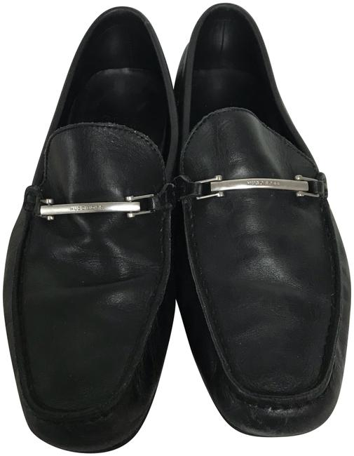 Boss by Hugo Boss Black Leather Men's Loafers Uk 7 Flats Size US 8 Regular (M, B) Boss by Hugo Boss Black Leather Men's Loafers Uk 7 Flats Size US 8 Regular (M, B) Image 1