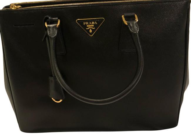 Prada Saffiano Black/Nero Leather Tote Prada Saffiano Black/Nero Leather Tote Image 1