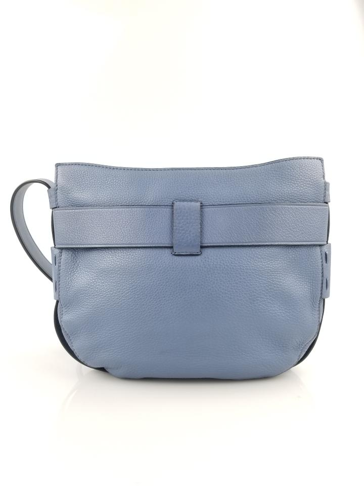 Burch Cross Link Leather Bag Body Light Gemini Wallis Tory Blue dq07Owd