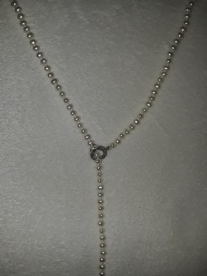 Ross-Simons Pearl Lariat necklace w/14 kt wg teardrop end
