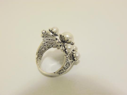Other Ottoman Jewelry Cultured Freshwater Pearl Sterling Floral Ring Size 9