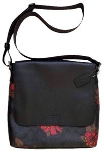 Coach Men Men's Crossbody Limited Edition Men Floral Monogram Floral Black Messenger Bag