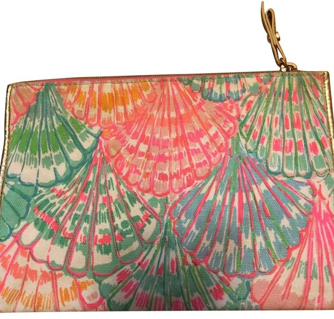 Item - Multi Colored Cotton and Polyester Lining Clutch