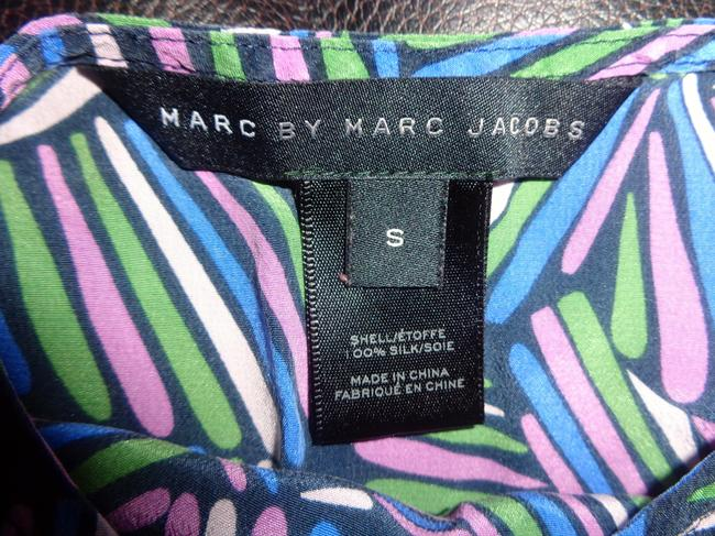 Marc by Marc Jacobs Top Multicolor Lime Blue Mauve