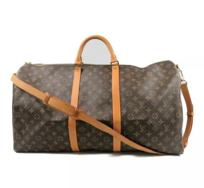 Louis Vuitton Boston Keepall 60 Bandouliere with Strap Monogram Canvas Weekend/Travel Bag Louis Vuitton Boston Keepall 60 Bandouliere with Strap Monogram Canvas Weekend/Travel Bag Image 1