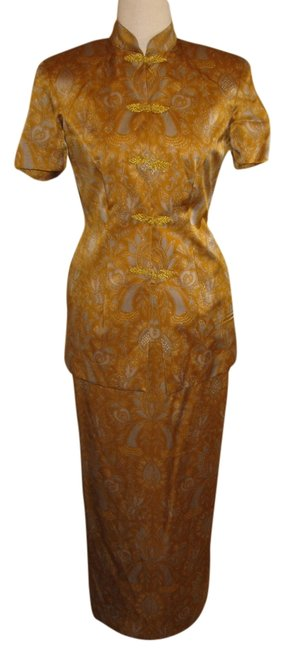 Other Mandarin Silk Two Piece Suit Custom Dress