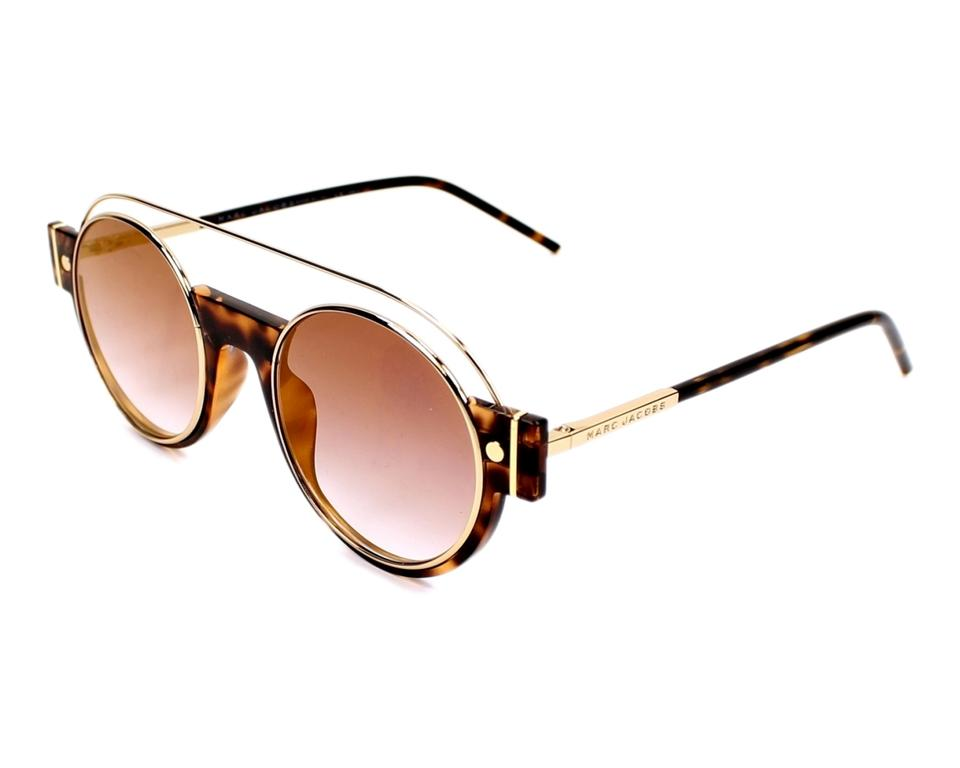 f1d61c53793 Marc Jacobs Brown New 2 S Gold Metal Round Frame Sunglasses - Tradesy