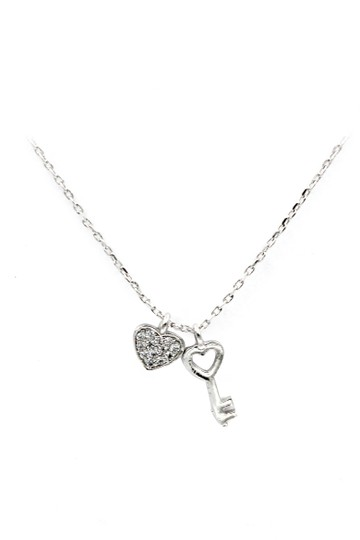 Preload https://img-static.tradesy.com/item/23747019/silver-exquisite-and-simple-love-crystal-necklace-0-0-540-540.jpg