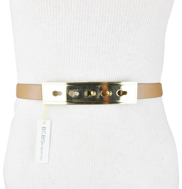 BCBGeneration Brown Gold Faux Leather Belt BCBGeneration Brown Gold Faux Leather Belt Image 1