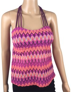 Hula Honey Crochet Open Back Padded Tankini Top