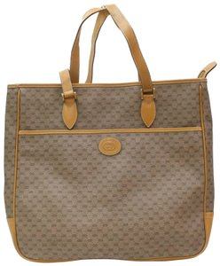 Gucci Ophidia Web Shopping Shopper Sac Plat Tote in Brown