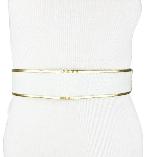 Preload https://img-static.tradesy.com/item/23747395/bcbgmaxazria-white-gold-black-fax-leather-alligator-size-xs-belt-0-1-540-540.jpg