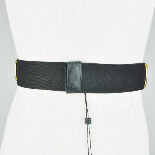 BCBGMAXAZRIA White Gold Black Fax Leather Alligator Belt Size XS