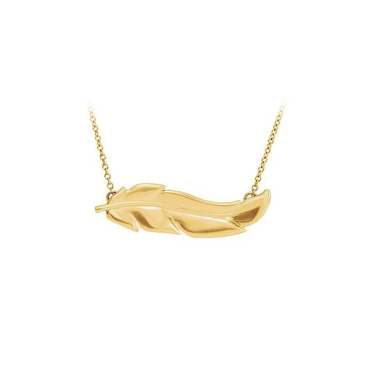 Preload https://img-static.tradesy.com/item/23747470/yellow-good-wishes-feather-18k-gold-vermeil-necklace-0-0-540-540.jpg