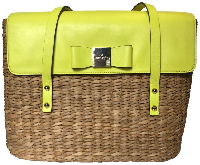 Item - Natural Vita Limoni Large Luisa Straw and Lemon Leather Shoulder Bag