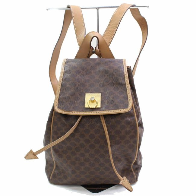 Item - Macadam Monogram 867250 Brown Coated Canvas Backpack