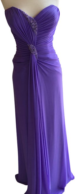 Item - Purple 70907 Long Formal Dress Size 10 (M)