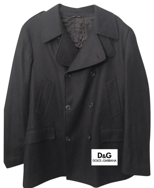 Item - Blue Dolce & Gabbana: Wool Men's Buttoncoat Coat Size OS (one size)