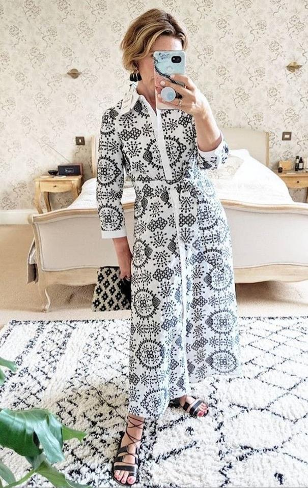 8f60845199 black Maxi Dress by Zara Tunic Embroidered White Floral Lace Image 11.  123456789101112