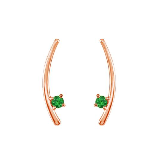 Preload https://img-static.tradesy.com/item/23747839/green-rose-gold-vermeil-two-stone-emerald-climber-earrings-0-0-540-540.jpg
